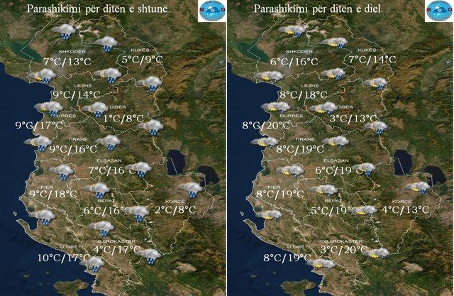 Rainfall returns on weekends, in mountainous areas snowfall