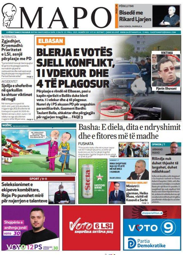 """Shtypi i ditës/ """"Blerja e votës sjell konflikt, 1 të vdekur"""