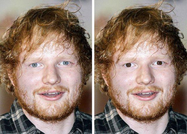 Si do të dukeshin të famshmit me sy blu nëse do i kishin kafe