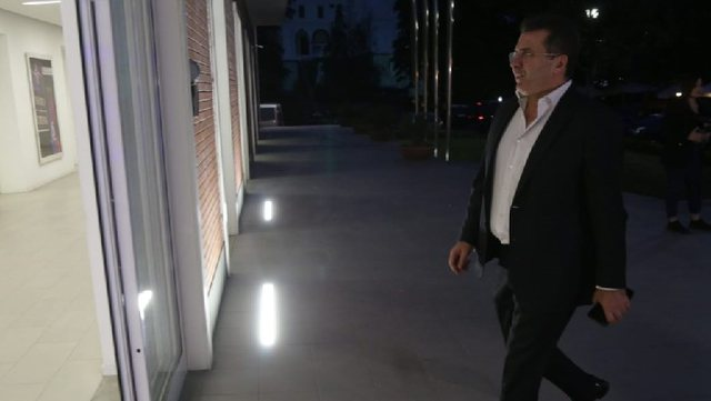 After the meeting with the candidates, Fatmir Mediu goes to Basha's office