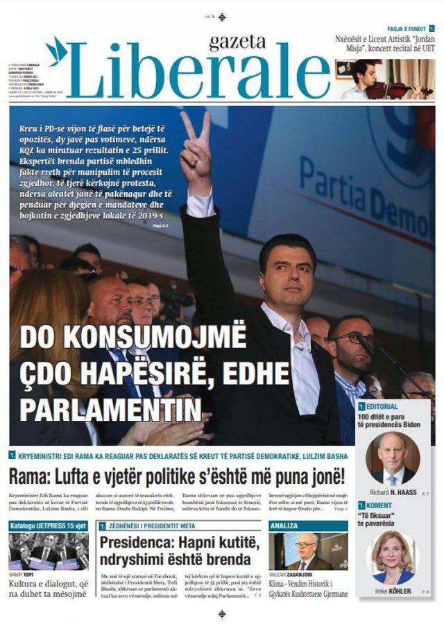 """Shtypi i ditës/ """"Opozita: Betejë kundër qeverisë"""