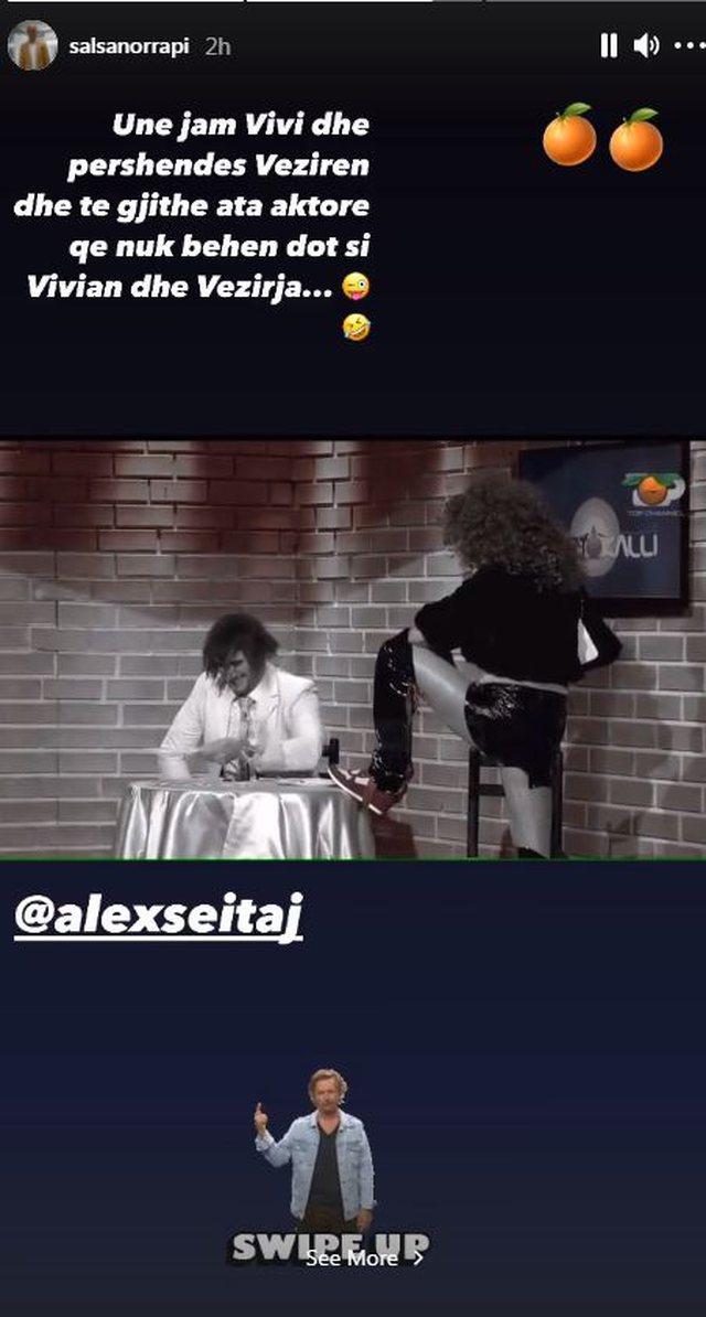 Salsano Rrapi comes out to Alex's side and bites Rezart