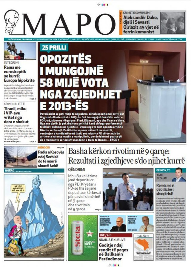 """Daily Press / """"Opposition lacks 58 thousand votes from the 2013"""