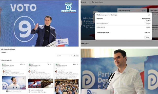 Basha i pakursyer për reklamat politike në Facebook, sa shpenzoi