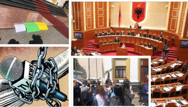 Kuvendi i përjashtoi nga aktivitetet/ Gazetarët në protestë: