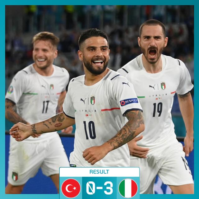 Italia e nis mbarë 'Euro 2020', mposht 3-0 Turqinë në