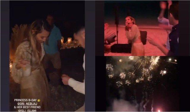 VIDEO/ Me fishekzjarre dhe miq të mirë, dalin pamjet nga festa në