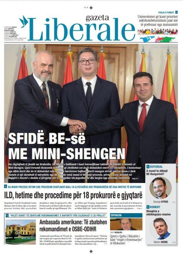 "Daily Press / ""EU Challenge with Mini-Schengen"", ""April 25, USA:"