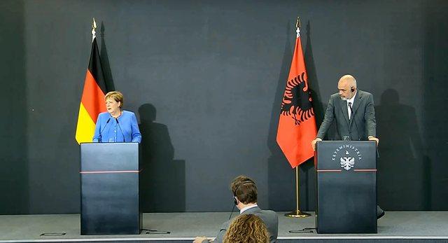 Integrimi evropian/ Merkel: Shqipëria dhe RMV kanë mbështetjen e