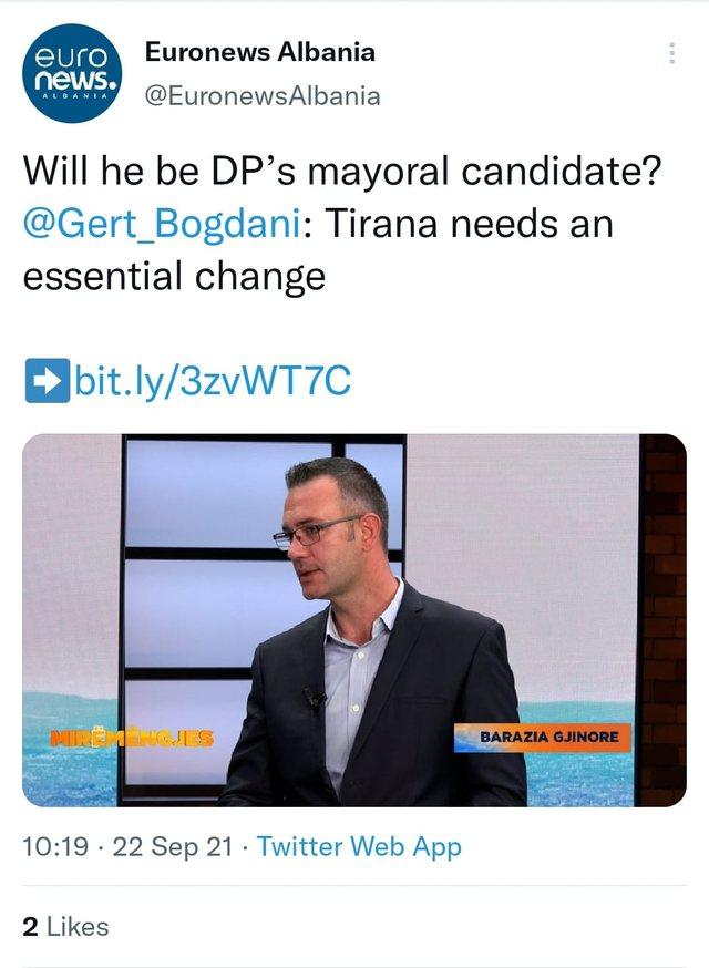 Gert Bogdani, kandidat i PD për bashkinë e Tiranës? Lali Eri i