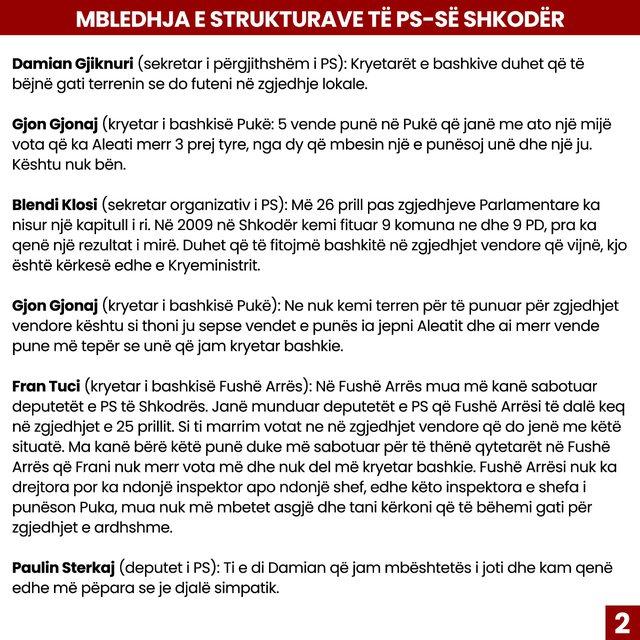 Debates in Shkodra SP, PD reacts: corrupt PPP Rama-Doshi-Rakipi is dividing the
