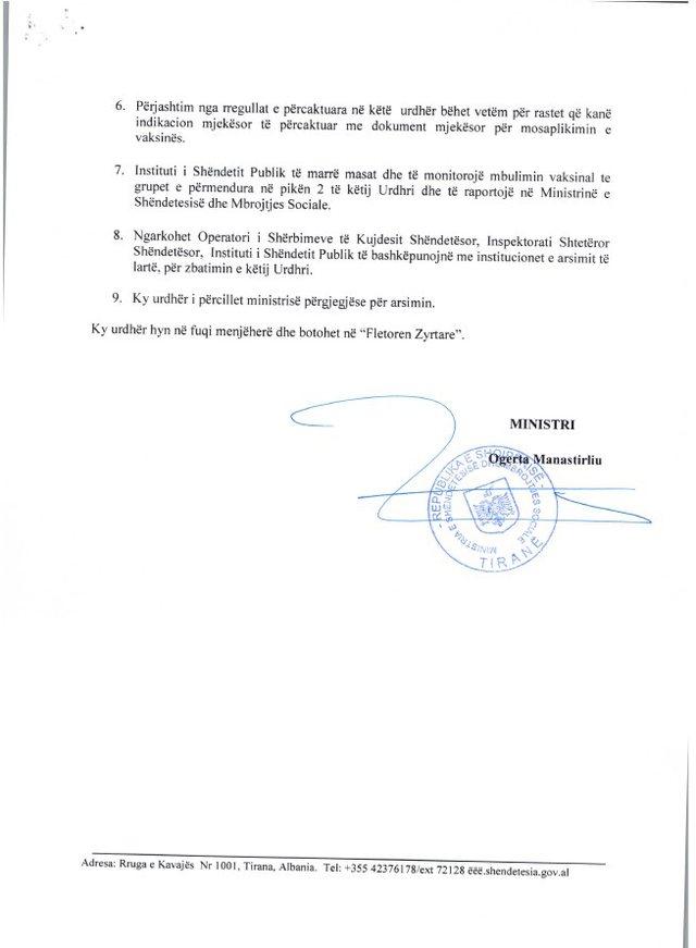 MSH publikon urdhrin për vitin e ri shkollor: Certifikatë vaksinimi,