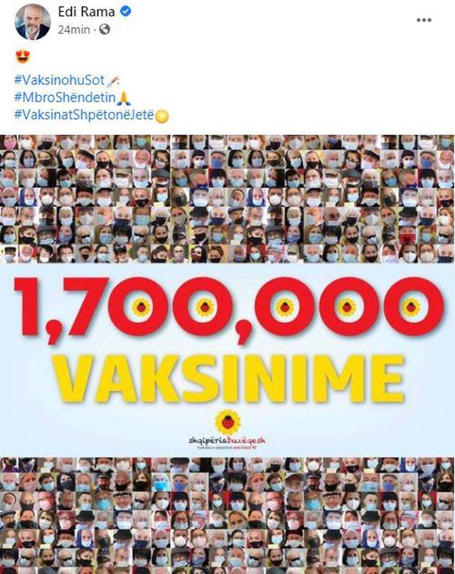 Sa ka shkuar numri i të vaksinuarëve në Shqipëri