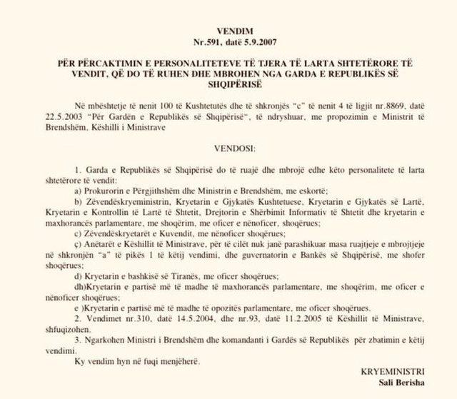 Vendimi për mbrojtjen e Bashës nga Garda, PD nxjerr dokumentin: