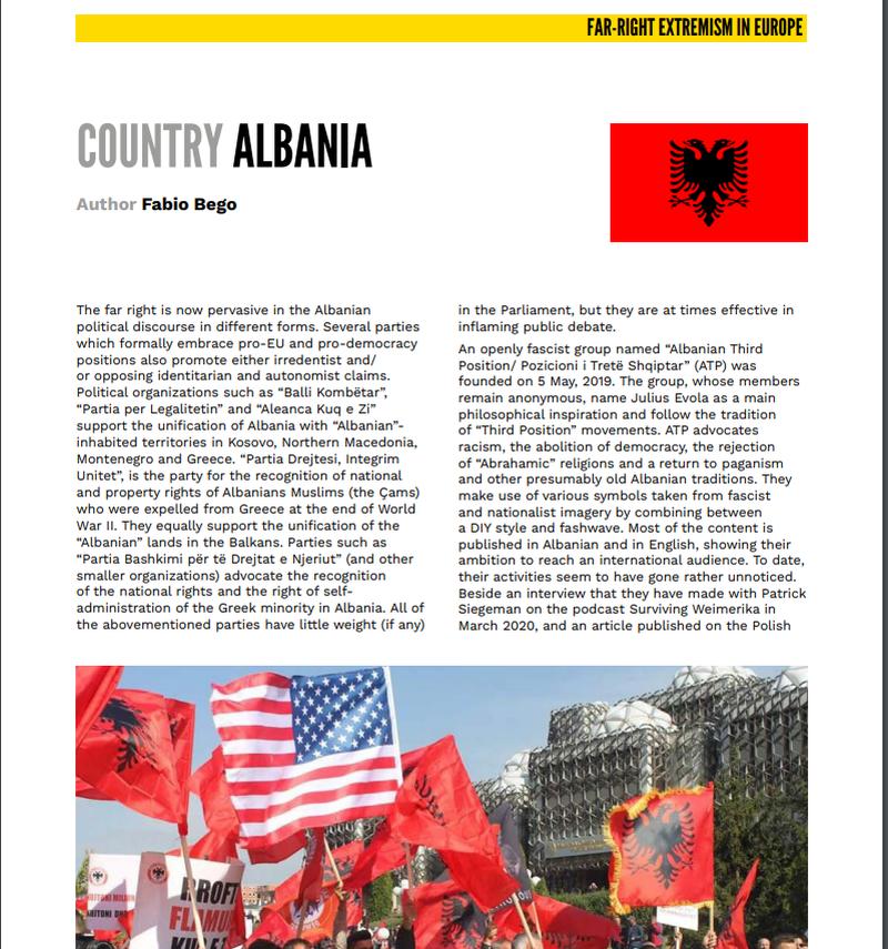 Studimi për ekstremizmin në Shqipëri/ Nga Mesila Doda 'e
