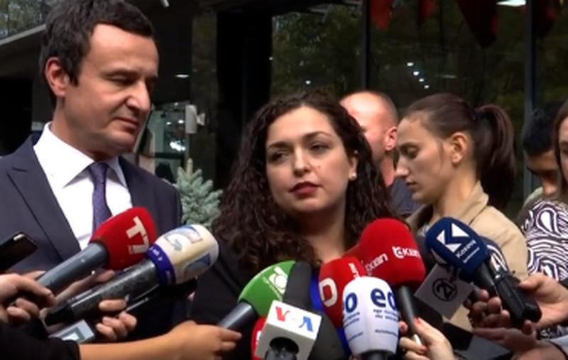 Takim 'kokë më kokë' me Albin Kurtin, Vjosa Osmani