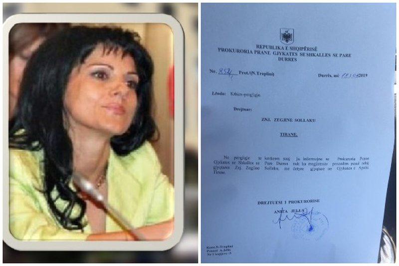 Prokuroria e Durrësit mohon hetimin ndaj gjyqtares Zegjine Sollakut: Nuk ka