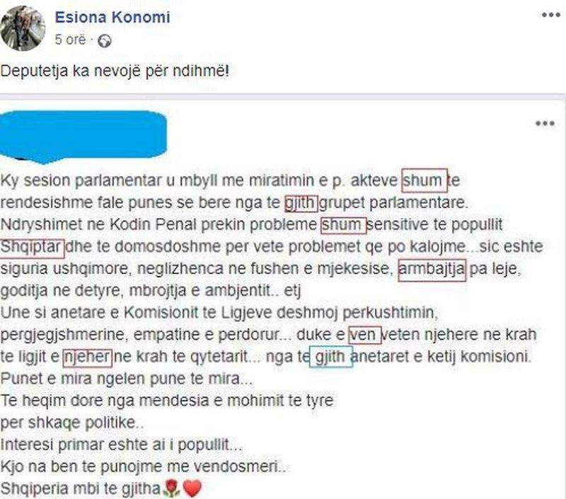 """""""Ka nevojë për ndihmë"""", gazetarja kapet me deputeten"""