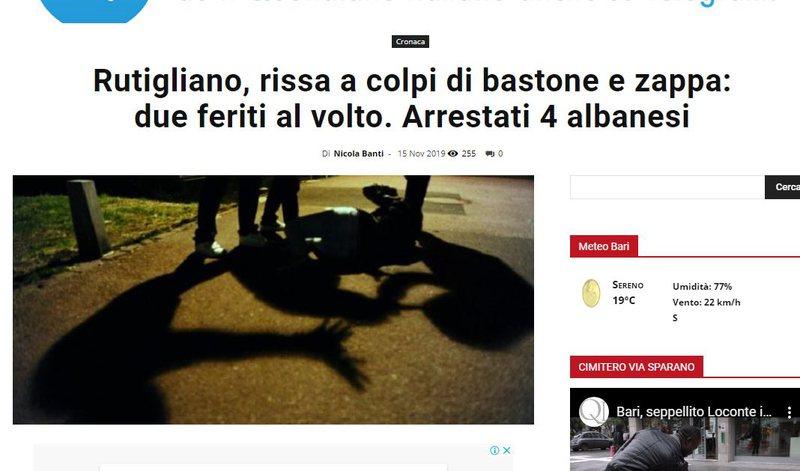 Sherr me shkopinj bejsbolli dhe shufra hekuri në Itali, Policia arrestohen