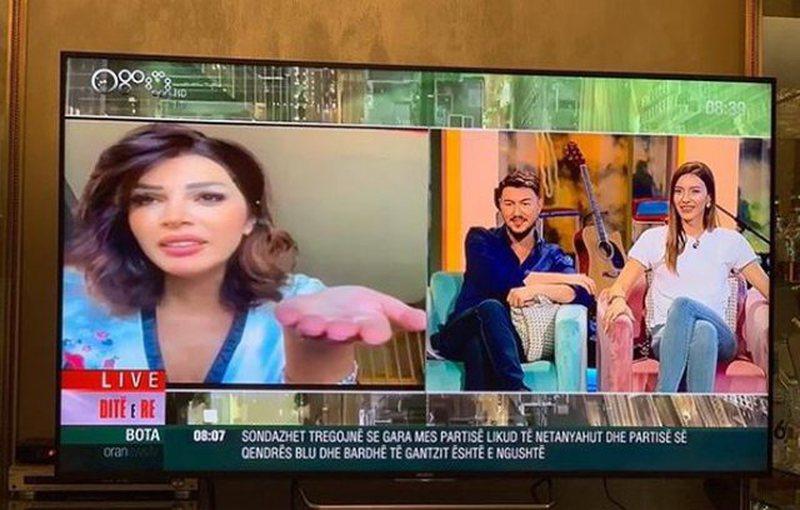 Habit Sonila Meço, del me pizhama në mes të emisionit (VIDEO)
