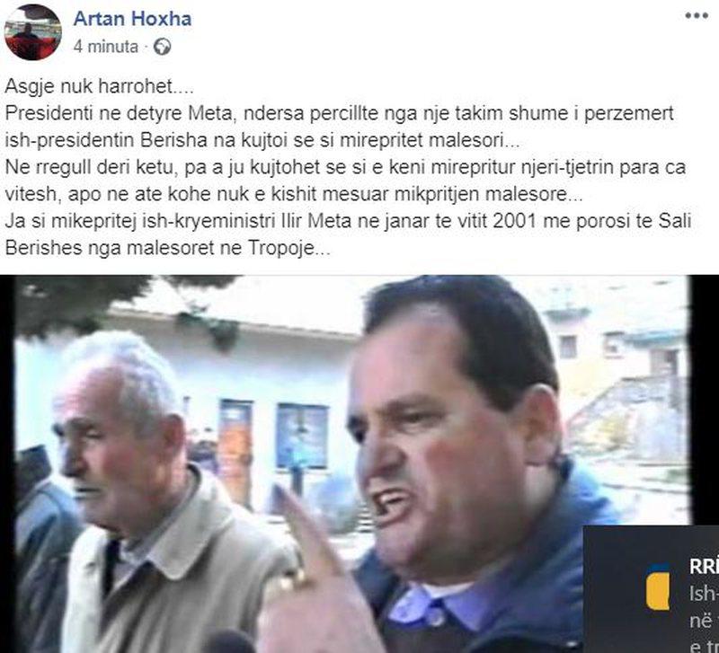 Takimi i sotëm Meta-Berisha, reagon Artan Hoxha dhe nxjerr pamjet se si