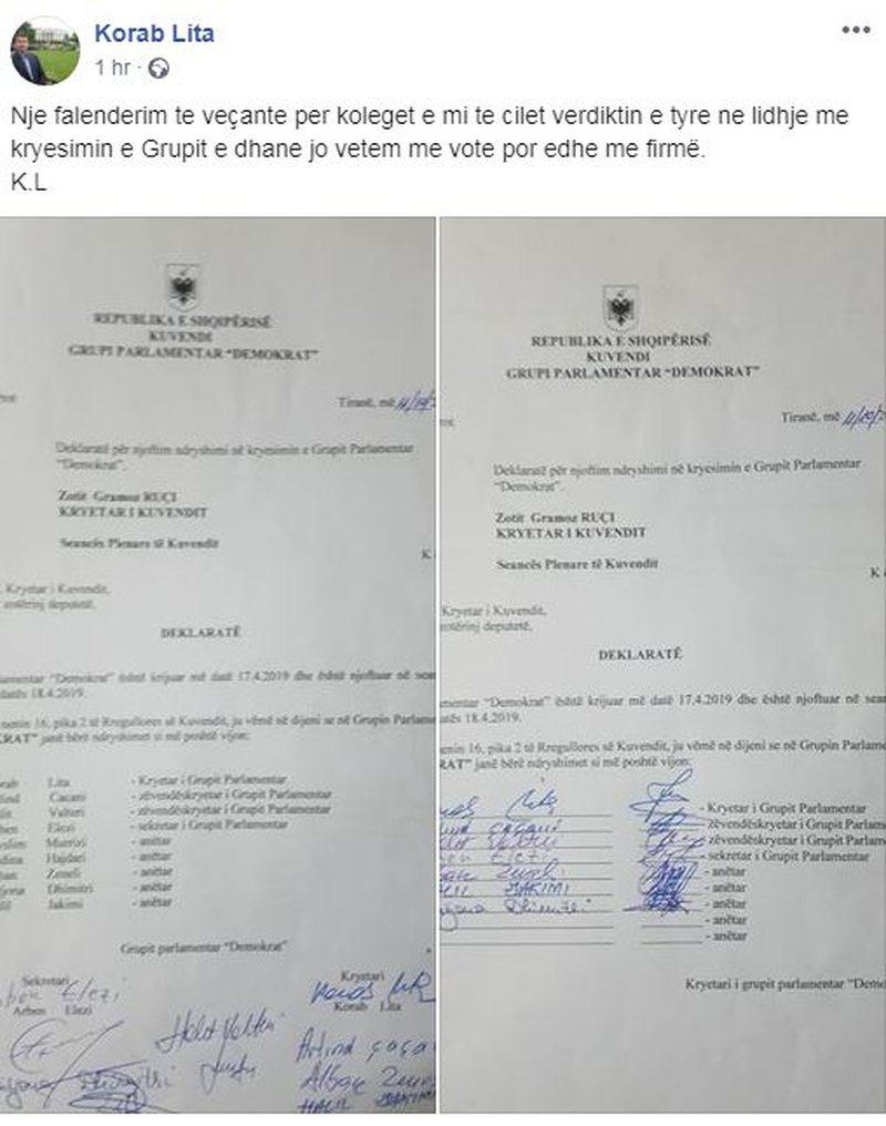 Përgënjeshtroi lajmin e shkarkimit, Korab Lita publikon dokumentin