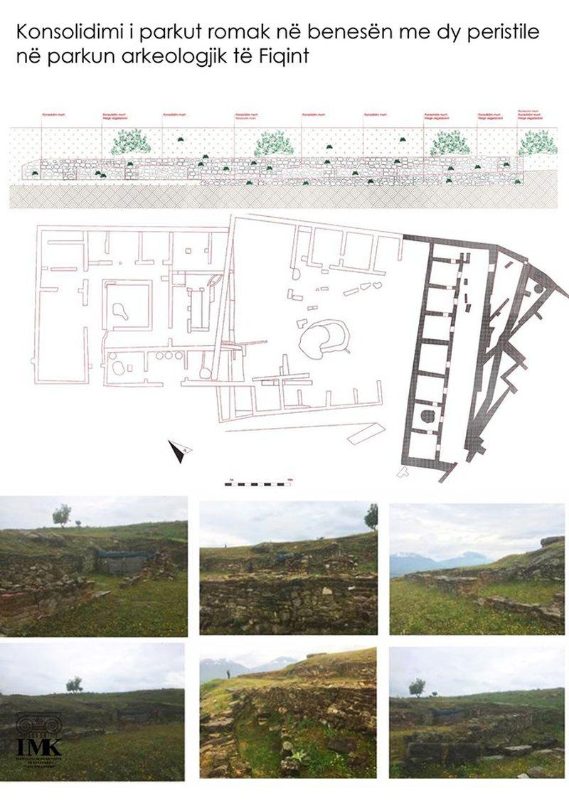 Muri romak në parkun e arkeologjik të Finiqit, në pritje të
