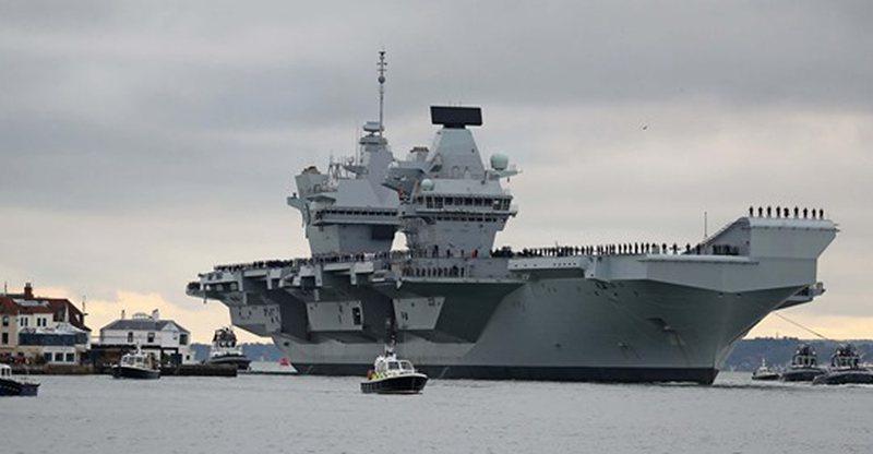 Aeroplanmbajtësja britanike 3 miliardë paund, mbyll testimet detare