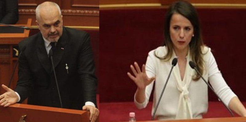 Rudina Hajdari nuk përmbahet ndaj kryeministrit Rama: Arrogant! Nuk mund ta
