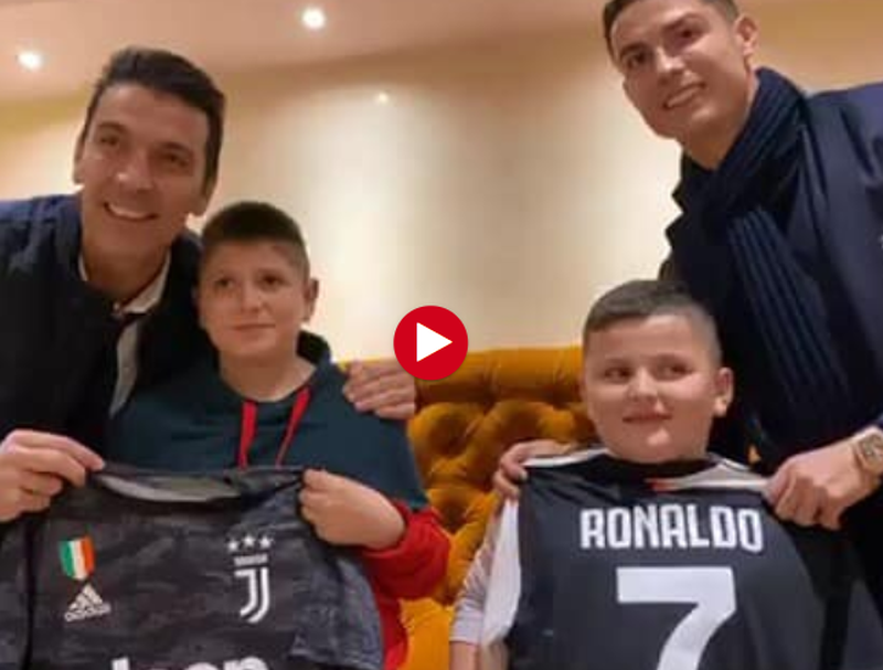 Ronaldo dhe Buffon shkrihen së qeshuri me Aurelin që u hodh nga