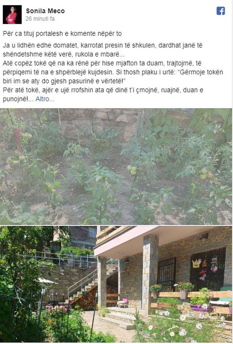 I publikuan fotot e vilës në Dardhë, reagon Sonila Meço: