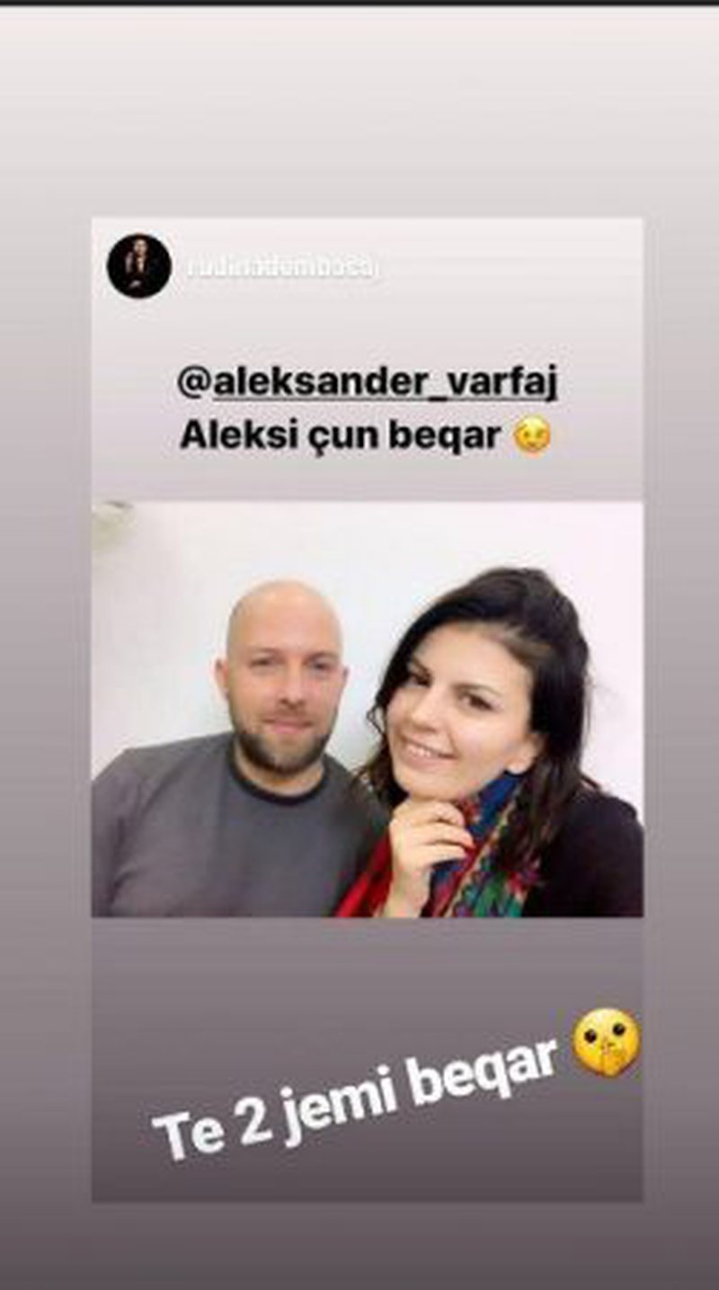 """Aleksi çun beqar"", ish-bashkëshorti i Rudina Dembacajt"