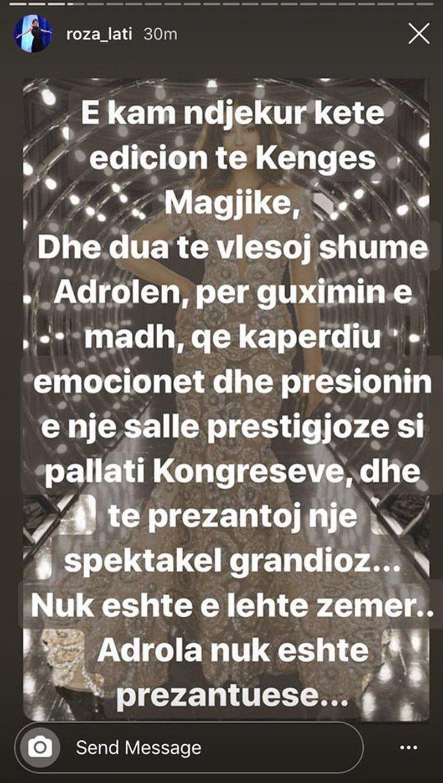 """Kaloi nga moda në prezantimin e """"Këngës Magjike"""", Roza"""
