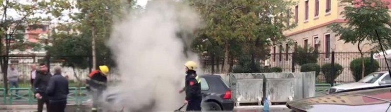 Banorët në panik/ Shpërthen në flakë një automjet