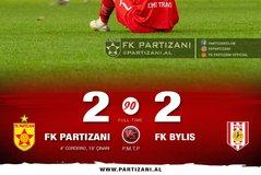 Partizanit i ikën fitorja nga duart, Bylisi bën heroin dhe del me 1