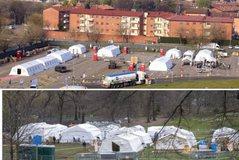 Italia si SHBA-ja, ngrihet spital në fushë për të