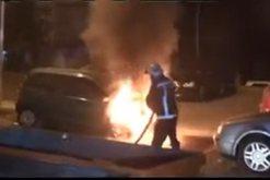 Qytetarët e Tiranës në panik, digjet makina në mes të
