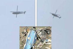 Disa minuta para goditjes fatale, shikoni si fluturonte helikopteri i Kobe