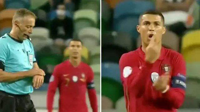 """Pamjet po thyejnë rrjetin! Ronaldo """"tërbohet"""" me arbitrin"""