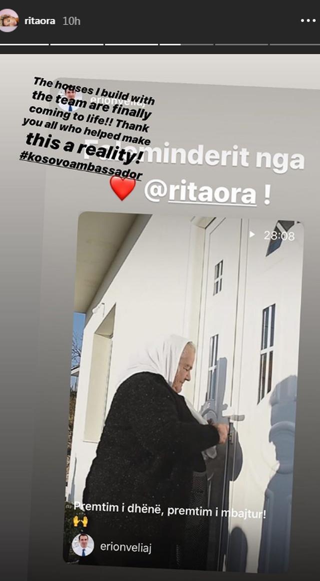 Rita Ora mban fjalën, reagon pas rindërtimit të