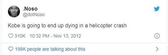 """""""Koby do të vdes në aksident me helikopter"""", ky status i"""