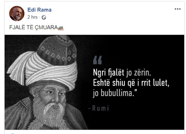 Rama 'godet' që në mëngjes, jep mesazhin e