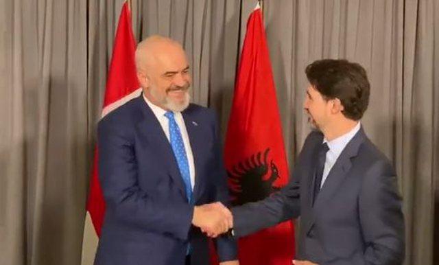 VIDEO/ Rama takon kryeministrin e Kanadasë në Gjermani (Arsyeja)