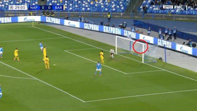 Napoli shokon Barcelonën, portieri nuk lëviz nga vendi (VIDEO)