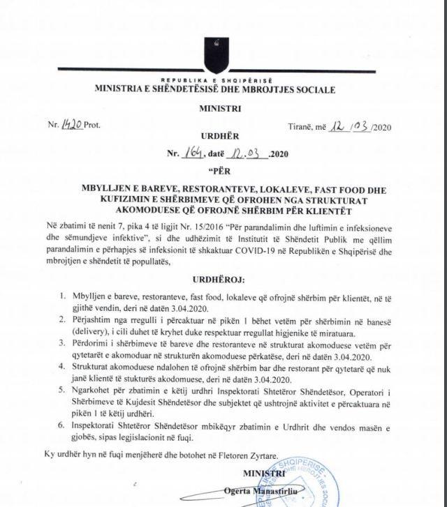 """Dokument/ """"Paralizohet"""" e gjithë Shqipëria nga"""