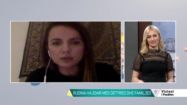 Vetëm me vajzën e karantinuar në shtëpi, Rudina Hajdari