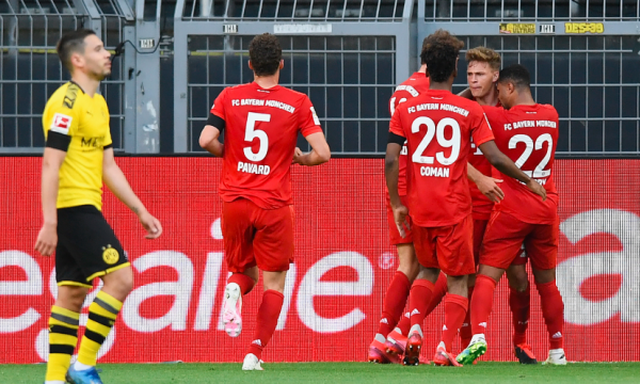 Derbi i Gjermanisë, Bajerni mund Dortmundin dhe vë një dorë