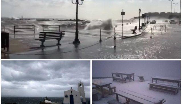 Pas tërmetit, një stuhi përfshin Greqinë, breshëri