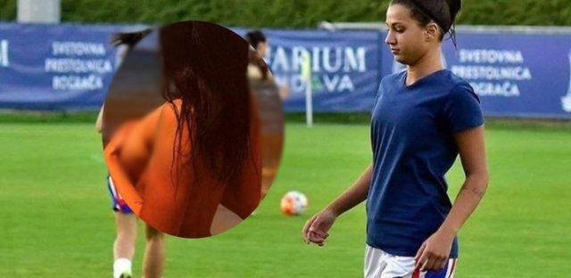 Në pak minuta kthehet në virale/ Fotot ku futbollistja shqiptare
