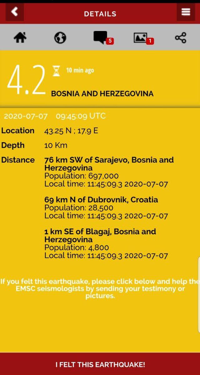 'Shkundet' Bosnje Hercegovina nga lëkundjet e tërmetit,
